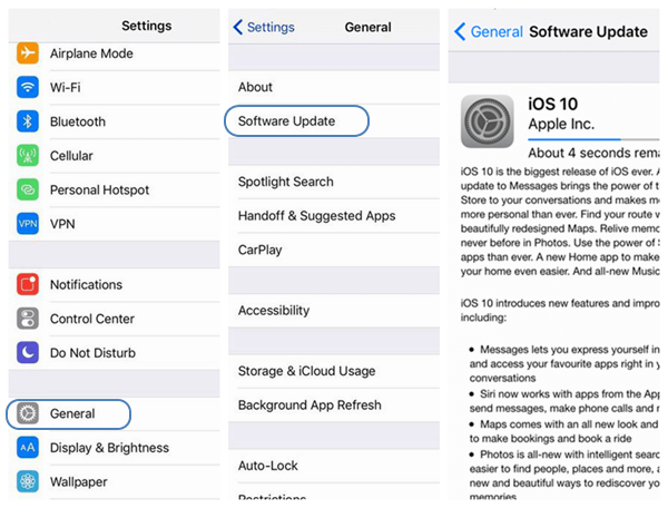 Guide of Installing iOS 10