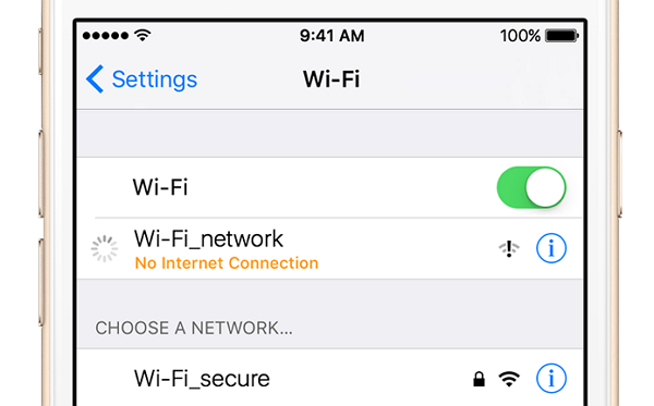 Check for Error with Wi-Fi Network
