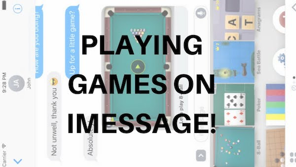 Play A Game with Friends in iMessage