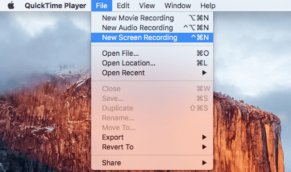 Record Mac with QuickTime Player