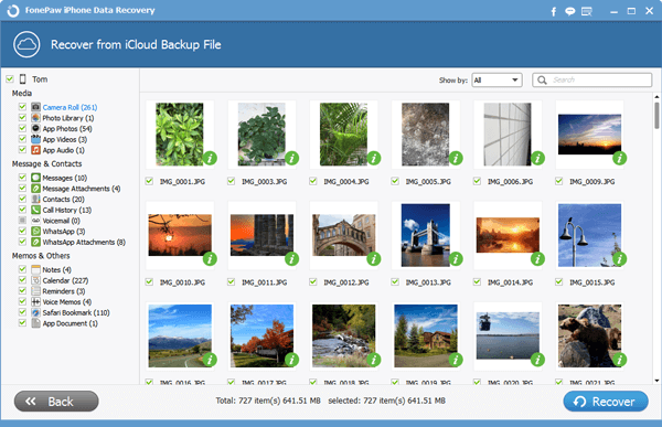 Get Photos Backup from iCloud