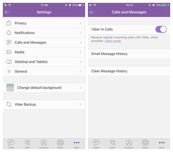 Viber Call History by Itself