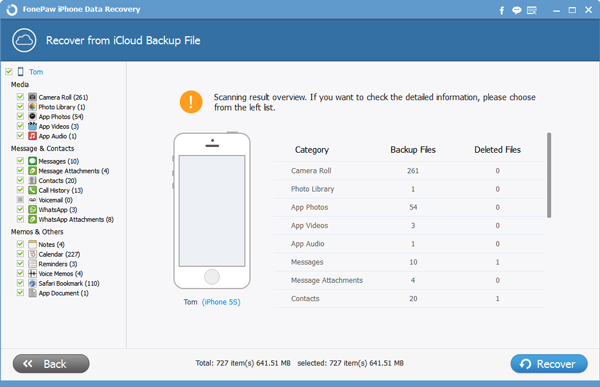 Get Data Backup from iCloud for iPhone 5