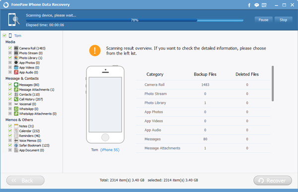 How to recover deleted contacts from an iphone 6 plus