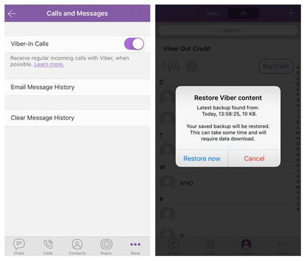 Use Viber Backup to Restore