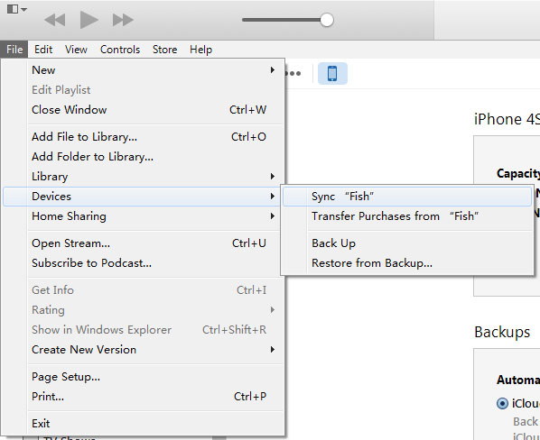 Copy Purchases from iPhone to iTunes