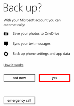 Back Up Contacts to Microsoft Account