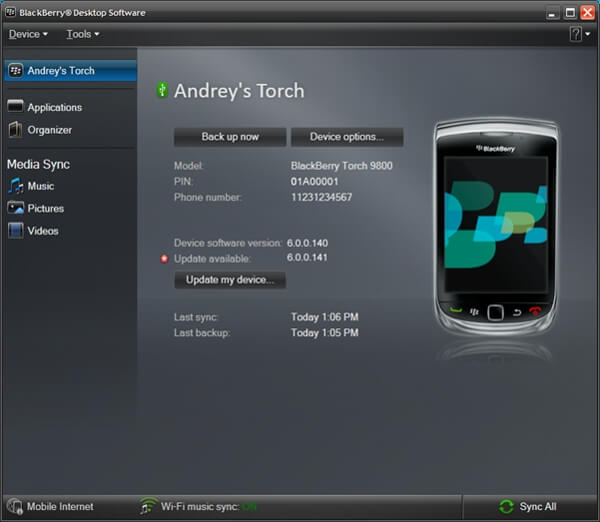 Transfer Data from BlackBerry to Android