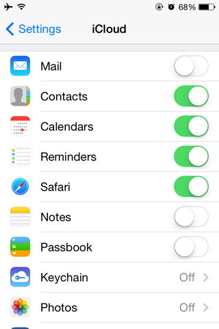 Sync Contacts to iCloud.