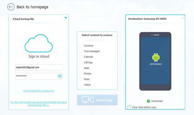 iCloud to Android