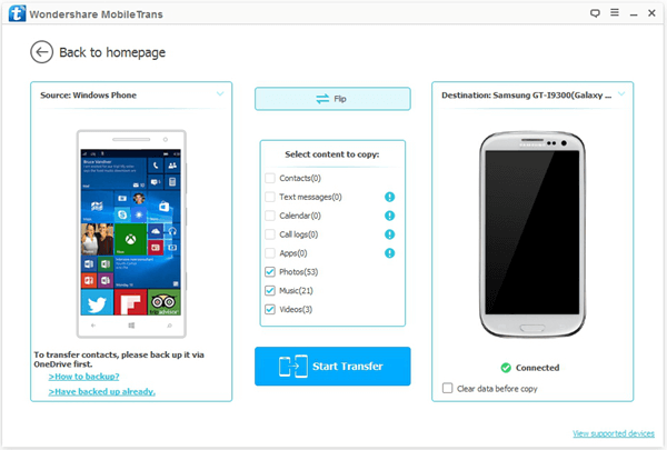 Connect Windows Phone and Android Phone to PC