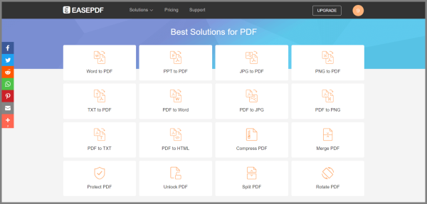EasePDF, a Professional Online PDF Converter, Merger and Editor
