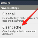 Clear Browser Cache and Cookies on Android
