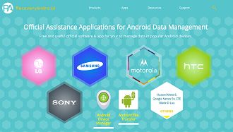 Official Android assistance software for data management