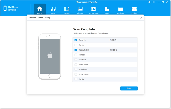 Copy iOS to iTunes